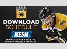 Download Boston Bruins Schedule NESNcom
