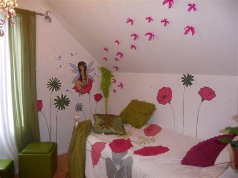 peinture sur mur chambre d enfant f 233 e et fleur m 233 lart