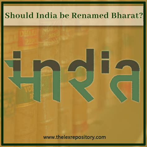 Should India be Renamed Bharat? - Lex Repository