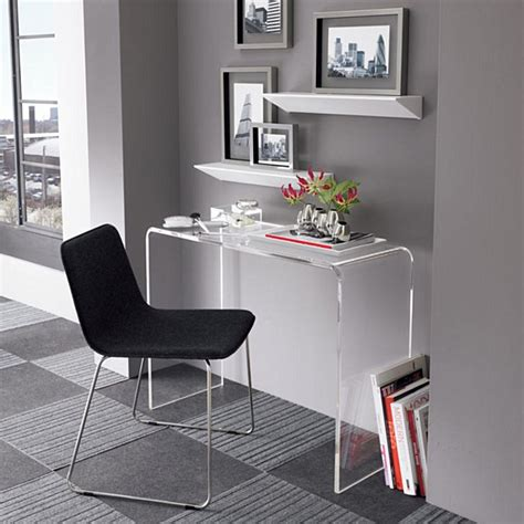 lucite chairs ikea acrylic home office desks for a clearly fabulous work space