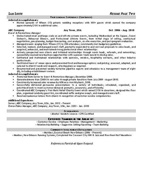 Event Planner Resume by Event Planner Resume Exle