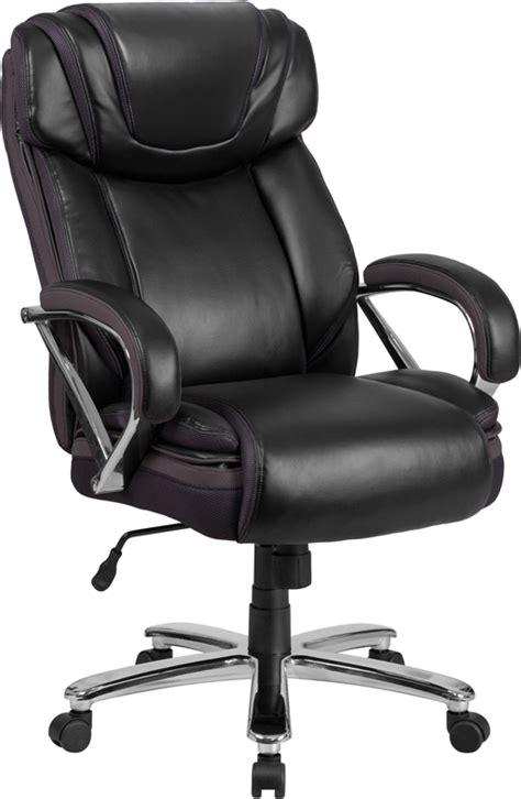 hercules 500 lb office chair hercules series 500 lb capacity big black leather