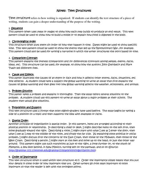 15 best images of informational text structure worksheets