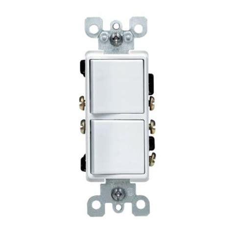 Leviton Decora Amp Way Combination Switch White