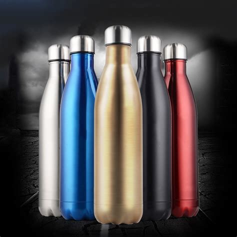 ozozoz  color stainless steel thermos water bottle vacuum insulated sports water bottle