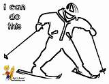 Coloring Winter Hockey Skier Boy Yescoloring Sports Bone Cold sketch template