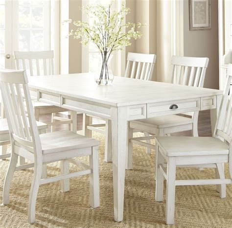 cayla antique white extendable rectangular dining table