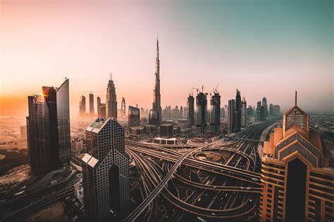 Wallpaper Dubai, Skyline, Cityscape, Skyscrapers, Burj ...