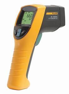 Fluke Backlit Lcd  Infrared Thermometer  Single Dot Laser