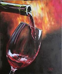 """""""En una copa de vino"""" (In a wine glass) Óleo sobre tela ..."""