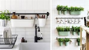 Rangement Ustensile Cuisine : 5 id es pour le rangement mural dans la cuisine ~ Melissatoandfro.com Idées de Décoration