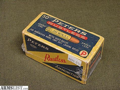 Armslist For Sale Peters 351 Win Sl 3586 Vintage Ammo