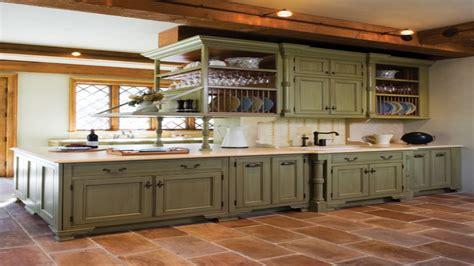 Mediterranean Kitchen Cabinets, Olive Green Kitchen Walls