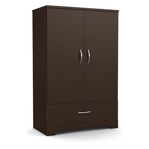 Wardrobe Cabinet With Drawers by Contemporary 2 Door Armoire Wardrobe Cabinet With Bottom