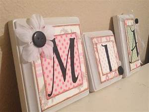 nursery wall letters personalized custom baby name letters With baby girl wall letters