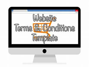 terms and conditions template ecommerce - website terms conditions template let me organise you