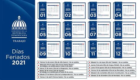 ministerio de trabajo informa cambios de dias feriados