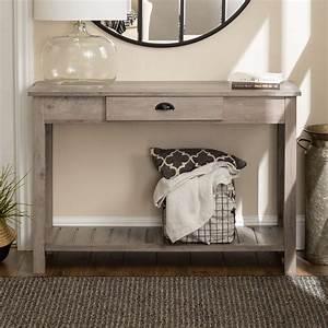 Middlebrook, Designs, 48-inch, Rustic, Farmhouse, Entry, Table, Grey, Wash, -, Walmart, Com