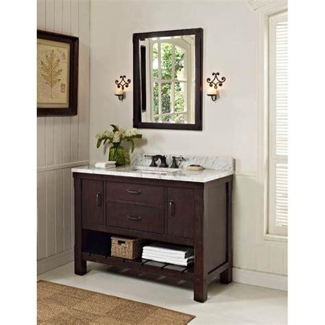 fairmont designs  napa open shelf vanity aged