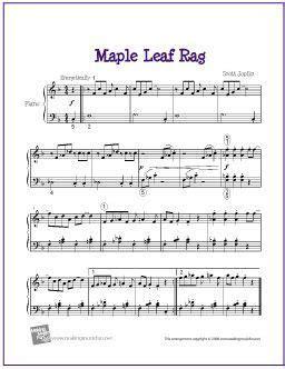 Violin maple leaf rag sheet music 8notescom. Maple Leaf Rag (Joplin)   Sheet Music for Easy Piano - http://makingmusicfun.net/htm/f_printit ...