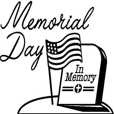 Memorial Day Clip Art Black White