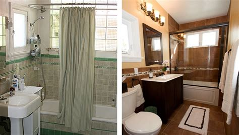 Before And After Small Bathrooms by 20 Before And After Bathroom Remodels That Are Stunning
