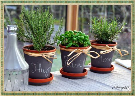 la boutique deco de cridescrap co cache pot en terre cuite herbe aromatique