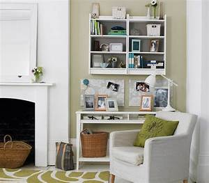 Office space 33 modern living room design ideas real for Home office in living room