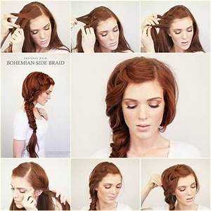 DIY Bohemian Side Braid Hairstyle - Fab Art DIY