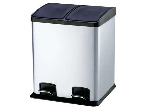 poubelle cuisine 2 bacs poubelle de cuisine 24 l select 24 coloris argenté vente