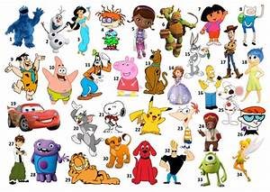 Kids Quiz Name The Cartoon Character By Mathsand