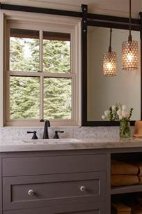 Countertop Shelf Bathroom by Design Decisions Bathroom Mirrors In Front Of A Window