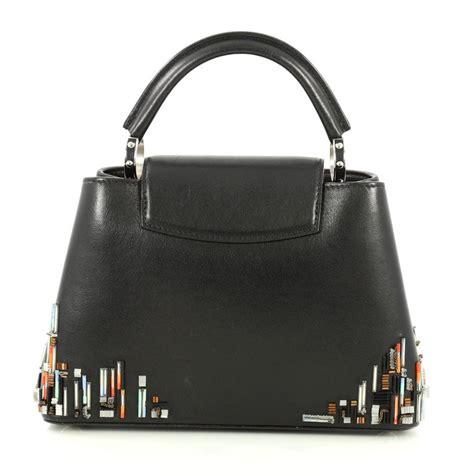 louis vuitton capucines handbag limited edition city beaded leather bb  sale  stdibs