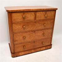 antique chest of drawers Large Antique Victorian Satin Birch Chest of Drawers | Marylebone Antiques – Sellers of 19th ...