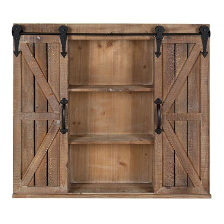 Wall Cupboards With Sliding Doors by Kate And Laurel Cates Rustic Wood Wall Storage Cabinet