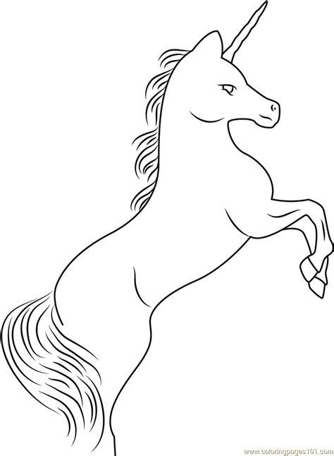 rampant unicorn coloring page  unicorn coloring
