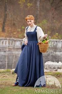 linen boned renaissance sleeveless kirtle dress german