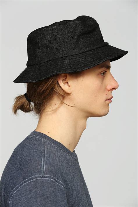 lyst stussy denim bucket hat  black  men