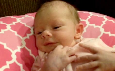 Adorable Footage Of Screaming Newborn Baby Being Calmed