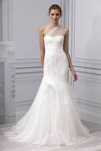 spring 2013 wedding dress monique lhuillier bridal gown With one shoulder wedding dresses