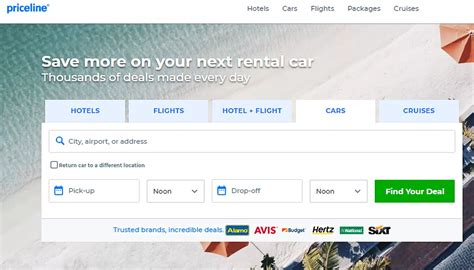 priceline drops quot name your own price quot for rental cars autoslash