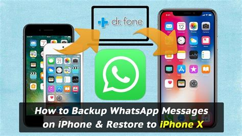 how to backup whatsapp messages on iphone restore to