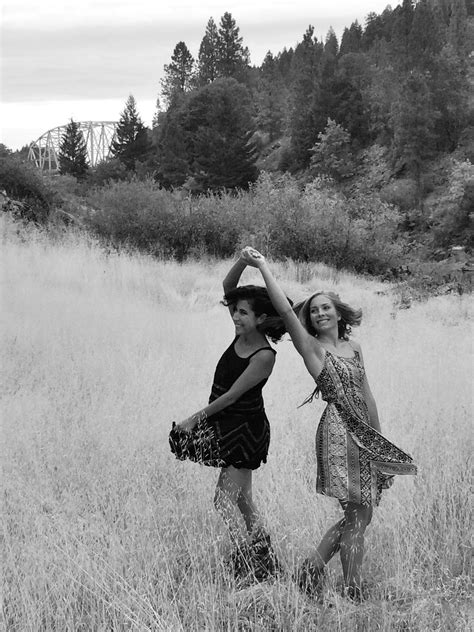 Best friends dancing black and white nature | Couple