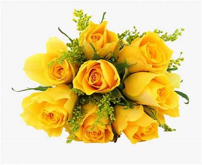 Bunch Flowers Yellow Rose Clipartkey