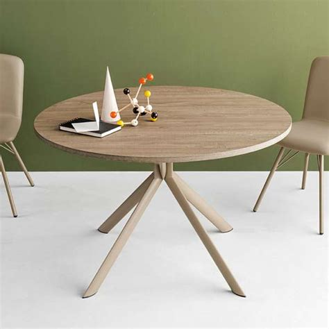 excellent table ronde extensible en mlamin giove connubia