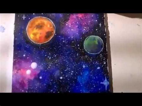 galaxy aquarell turorial german youtube