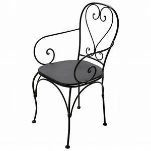 Fauteuil Fer Forgé : fauteuil de jardin en fer forg brun fonc st germain maisons du monde ~ Teatrodelosmanantiales.com Idées de Décoration