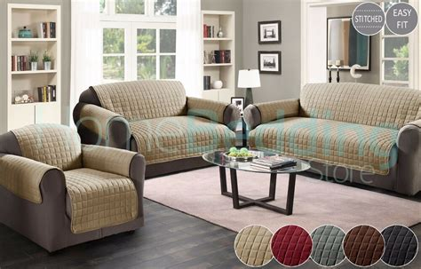 quilted sofa protector throw furniture protector cover water resistant  sizes ebay