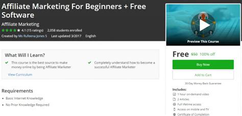 free marketing course for beginners 100 affiliate marketing for beginners free