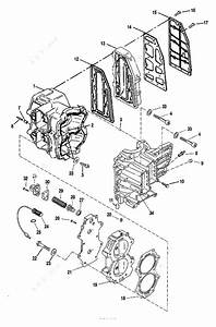 Mercury Force 40 H P  1997  Cylinder Block Assembly